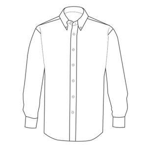 Contrast premium Oxford shirt (button down collar) long sleeve Thumbnail