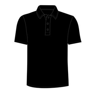 Button down collar contrast polo Thumbnail