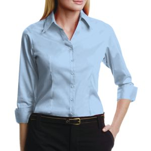 Women's corporate Oxford shirt 3/4 sleeved Thumbnail